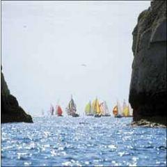 wenskaart woodmansterne - zeilboten op zee