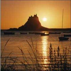 wenskaart woodmansterne - kasteel aan zee
