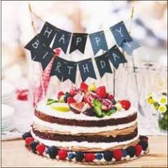 verjaardagskaart woodmansterne - happy birthday - taart