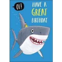 verjaardagskaart woodmansterne - have a great birthday - haai