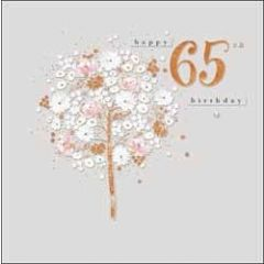 65 jaar - verjaardagskaart woodmansterne - happy 65th birthday