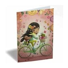 wenskaart - candy en coquette - fietsen