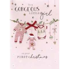 kerstkaart second nature - to gorgeous little girl on your first christmas