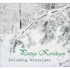 10 kerstkaarten - prettige kerstdagen gelukkig nieuwjaar - takken met sneeuw - 4