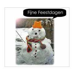 10 kerstkaarten - fijne feestdagen - sneeuwpop