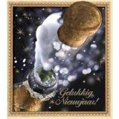 8 nieuwjaarskaarten - gelukkig nieuwjaar - champagne