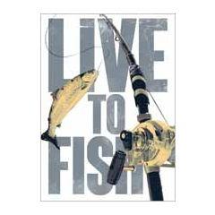 verjaardagskaart - live to fish - vissen