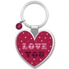 sleutelhanger - love you - hart