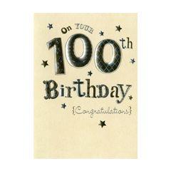 verjaardagskaart 100 jaar - on your 100th birthday congratulations