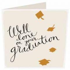 felicitatiekaart geslaagd van caroline gardner - well done on your graduation
