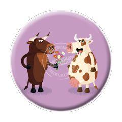 magneet rémy tornior - stier geeft bloemen aan koe