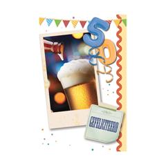 50 jaar - gefeliciteerd - bier en slingers