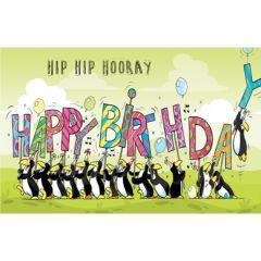 verjaardagskaart - hip hooray happy birthday