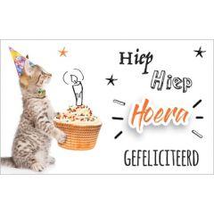 felicitatiekaart - hiep hoera gefeliciteerd