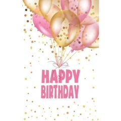 verjaardagskaart - happy birthday - ballonnen
