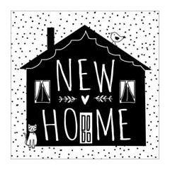 wenskaart  piano handwriting - new home