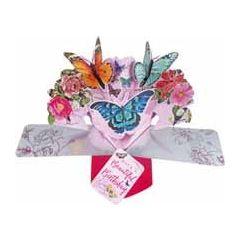 3D verjaardagskaart - pop ups - have a beautiful birthday - vlinders
