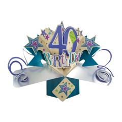 40 jaar - 3D kaart - pop ups - 40th birthday