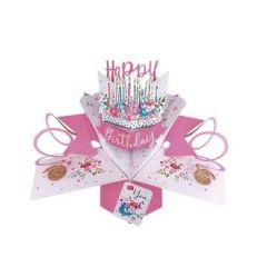 3D verjaardagskaart - pop ups - happy birthday to you - kaarsjes