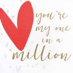 grote wenskaart caroline gardner - you are my one in a million - hart