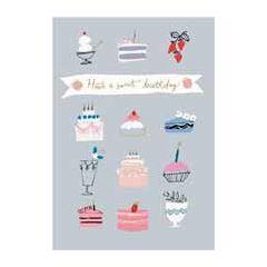 verjaardagskaart roger la borde -  have a sweet birthday - gebak