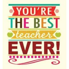 wenskaart caroline gardner - you re the best teacher ever!