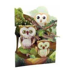3D kaart - swing cards - uilen
