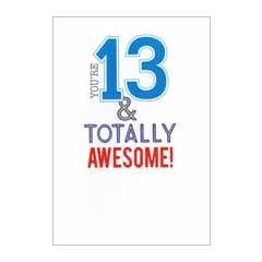 13 jaar - verjaardagskaart - you re 13 & totally awesome!