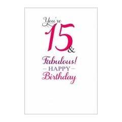 15 jaar - verjaardagskaart - you re 15 & fabulous! happy birthday