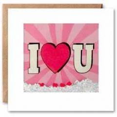 romantische kaart  shakies - I love (hart) you