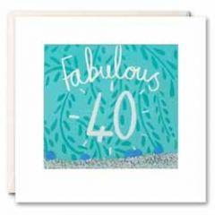 40 jaar - felicitatiekaart shakies - fabulous 40