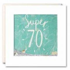 70 jaar - felicitatiekaart shakies - super 70