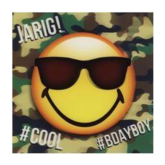 3D verjaardagskaart smileys - jarig! cool bdayboy