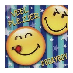 3D verjaardagskaart smileys - veel plezier bdayboy
