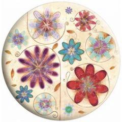 make up spiegeltje met fluwelen hoesje -  jehanne weyman - bloemen