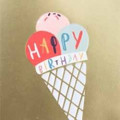 verjaardagskaart caroline gardner - super duper - happy birthday - ijsje