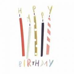 verjaardagskaart caroline gardner - super duper - happy birthday - kaarsjes