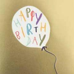 verjaardagskaart caroline gardner - super duper - happy birthday - ballon
