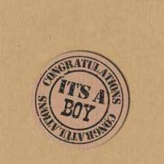 sluitstickers - sluitzegels - it s a boy congratulations