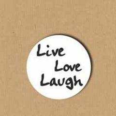 sluitstickers - sluitzegels - live love laugh