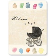 ansichtkaart susi winter - welcome baby