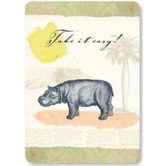 ansichtkaart susi winter - take it easy - nijlpaard