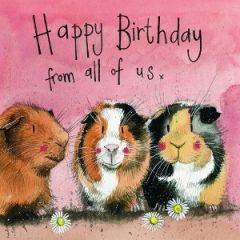 verjaardagskaart alex clark - happy birthday from all of us - cavia