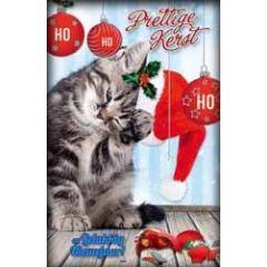 8 kerstkaarten - prettige kerst en gelukkig nieuwjaar  - kat