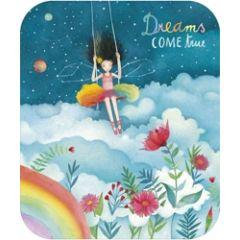 ansichtkaart met envelop - tv kaart - mila - dreams come true