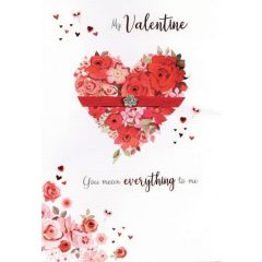 grote luxe handgemaakte valentijnskaart - my valentine you mean everything to me