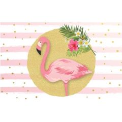 wenskaart - flamingo