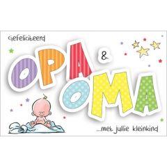 geboortekaartje - opa en oma gefeliciteerd met jullie kleinkind