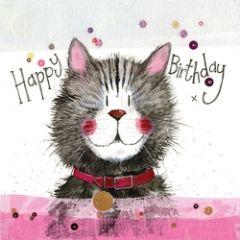 verjaardagskaart alex clark - happy birthday - kat