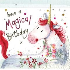 verjaardagskaart alex clark - have a magical birthday - eenhoorn